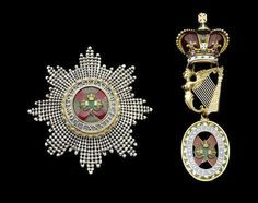 Star and sash badge of the Order of Saint Patrick