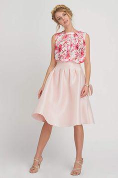 Koszulka bimaterial w kwiaty Short Skirts, Dress To Impress, Modern, Midi Skirt, Shorts, Design, Outfits, Vintage, Dresses