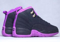 b1673e9f83d Air Jordan 12 GS Hyper Violet Release Date. This Air Jordan 12 Black Purple  colorway is a kids exclusive Air Jordan 12 that will release this June
