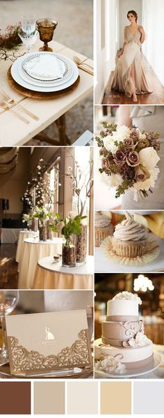 Champagne And Chocolate Wedding Theme Maroon - six gorgeous neutral wedding color combos to i. Champagne And Chocolate Wedding Theme Maroon – six gorgeous neutral wedding color combos to inspi themes maroon Neutral Wedding Colors, Wedding Color Schemes, Muted Colors, Wedding Themes, Wedding Decorations, Rustic Wedding, Our Wedding, Wedding Bands, Cream Wedding