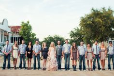 Southern wedding - bridal party with edge