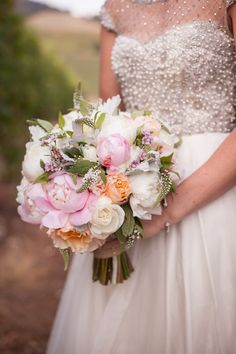 Beautiful Bouquet   Romantic Sonoma Valley Wedding   See more on SMP: http://www.StyleMePretty.com/california-weddings/sonoma/2014/03/06/romantic-sonoma-valley-wedding/ Jessamyn Harris Photography