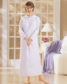 Long Striped Flannel Gowns $23.95