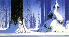 Eyvind Earle, Winter, 1981