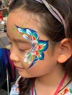 Flowers and rainbow - Famous Last Words Face Painting Flowers, Face Painting Tips, Face Painting Designs, Animal Face Paintings, Animal Faces, Eye Art, Skull And Bones, Face And Body, Artsy Fartsy