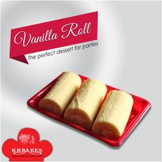 Vanilla Roll : Enjoy the taste of Vanilla filled with lots of love @ KR BAKES since 1969.  #KRBakes #KRBakesSince1969 #BakedWithLove #Vanilla #VanillaRoll