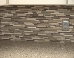 Kitchen Backsplash Lowes 12-in x 14-in Brown Mosaic Wall Tile, Item #: 291274 |  Model #: 20-597 or Costco Golden Select Tuscan Glass and Stone Mosaic Tile #703658