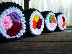 knitted sushi rolls!