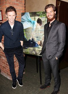 Eddie Redmayne and Andrew Garfield not reallt liking the beard drew!