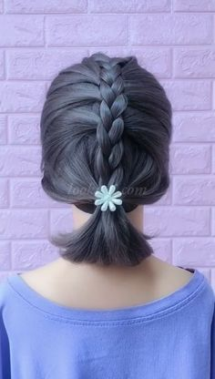 Short haired braided hairstyle idea - everyday hairstyles,everyday hairstyles for long hair,everyday hairstyles for short hair Little Girl Hairstyles, Hairstyles With Bangs, Little Girl Braids, Coiffure Hair, Hair Upstyles, Braids For Short Hair, Short Braided Hairstyles, Braided Hairstyles For Short Hair, Everyday Hairstyles