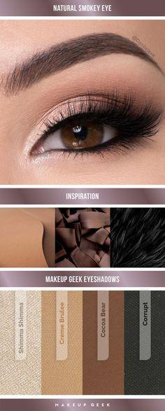 Natural Smokey Eye Look by: Denitslava M using Makeup Geek Eyeshadows. #makeupgeek #makeupgeekcosmetics