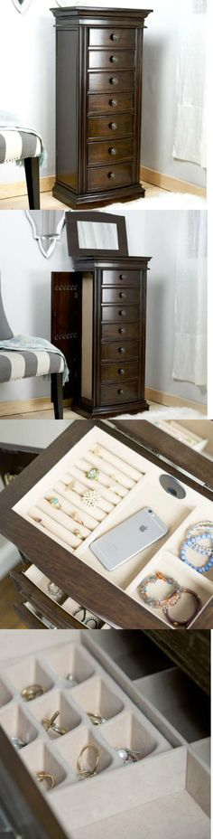 jewelry boxes stand up jewelry box with mirror wooden with drawers tall armoire organizer - Stand Up Jewelry Box