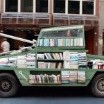 Weapons of Mass Instruction: A 1979 Ford Falcon Converted into a Tank Armored with 900 Free Books