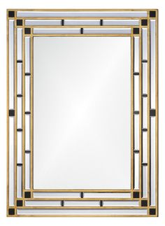 The art deco movement was a truly special time in interior design. This Art Deco Mirror features a bold gold design that will look great in any room. Add this sleek and sophisticated decoration to your home to give it a wonderful classic feeling. Art Deco Decor, Art Deco Stil, Art Deco Home, Art Deco Design, Art Deco Bathroom, Art Deco Mirror, Art Nouveau, Art Deco Spiegel, Bliss Home And Design