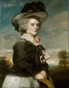 Miss Elizabeth Keppel, Later Mrs Thomas Meyrick by Joshua Reynolds, 1782, now in The Ashmolean Museum of Art and Archaeology