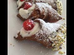 Cannoli, Yuo Tube, Spanish Desserts, English Food, Ricotta, Italian Recipes, Sweet Recipes, Delicious Desserts, Tasty