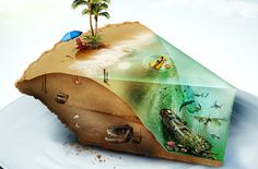 Little Slice of Paradise by Devin Schoeffler, via Behance