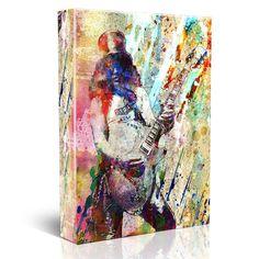Slash Canvas Art, Guns n' Roses Original, GNR Painting Canvas Art Print