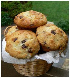 Le palais gourmand: Muffins aux pépites de chocolat et à la crème sûre