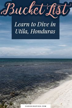 Bucket List Idea: Learn to Dive in Utila, Honduras Travel Around The World, Around The Worlds, Honduras Travel, Utila, Life List, Travel Guides, South America, Travel Photos, Diving