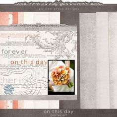 Free digital Wedding Day kit. Includes 11 patterned papers and 18 elements!