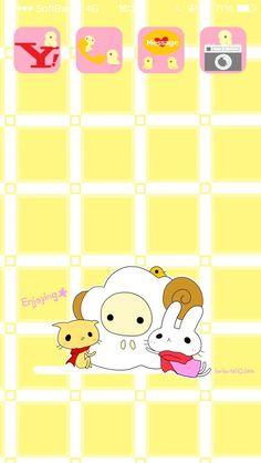 #CocoPPa #kawaii #yellow #animal #cat #rabbit
