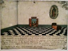 Mexican Miracle Painting.  Is it the floor?