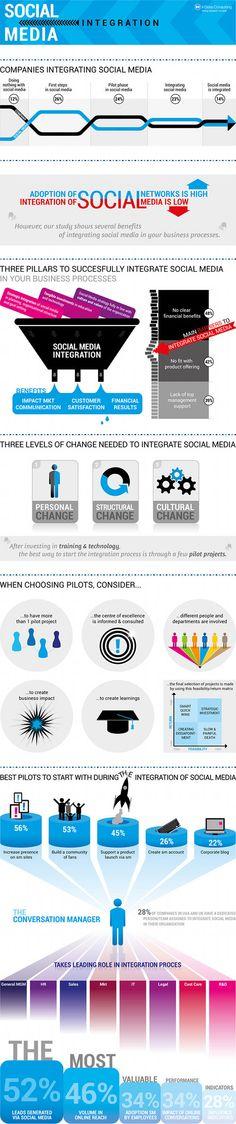 Social Media Integration #infographic