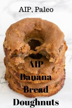 Aip Banana Bread Donuts Paleo Makes: 6 Servings Prep Time: 10 Mins Cook Time: Mins Ingredients: 3 Large Overripe Bananas 1 Cup Cassava Flour 14 Cup Coconut Flour 12 Cup Coconut Sugar 3 Tbsp Avocado Oil 12 Tsp Baking Soda Pinch Of Salt 2 Tb Donut Recipes, Paleo Recipes, Low Carb Recipes, Paleo Meals, Paleo Dessert, Healthy Sweets, Dessert Recipes, Dinner Recipes, Desserts