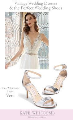 f96d84eb0773 Timeless silver bridal shoes for your special day •Wedding Shoes •Silver  shoe for bride