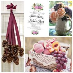 Fall/Winter Purple Blush Floral Pine Cone Wedding by BeholdDesignz. Design Colors can be customized to your bouquet by Behold Designz.