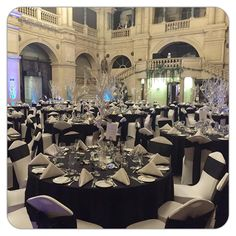New Year's Eve at Bristol Museum in a formal yet elegant black and white theme #newyeareve #newyear #newyeareveparty #museum #bristolmuseum…