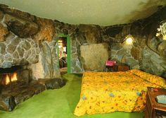 "Madonna Inn ""rock"" guest room.  It is a kitschy kool place."