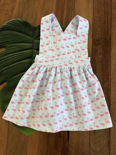 Flamingo Print Pinafore Flamingo Print, Easy Wear, Elastic Waist, Tights, Summer Dresses, Kids, How To Wear, Shirts, Clothes