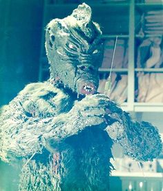 """The Fish Man Monster from """"Zaat"""" was a scaly, amphibious humanoid with webbed fingers & claws , a bulbous head,pointed ears & fish-like features. Lake Monsters, Scary Monsters, Famous Monsters, Creepy Vintage, Vintage Horror, Sci Fi Films, Horror Films, Classic Sci Fi Movies, Blood In Water"""