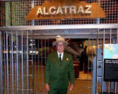Frank Dean at Alcatraz Life on the Rock Exhibit. Photo credit: Karla Erovick
