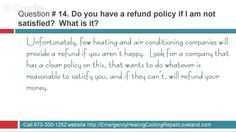 #14 of 15 Questions You Should Ask Any Heating and Air Conditioning Comp...