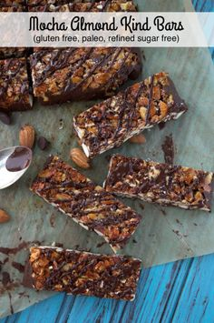 Homemade Mocha Almond Kind Bars make for a tasty snack without any weird ingredients!
