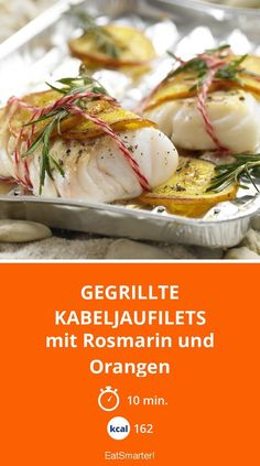 Grilled cod fillets- Gegrillte Kabeljaufilets Super delicious fruity and ready in just 10 minutes! Ketogenic Recipes, Paleo Recipes, Snack Recipes, Dinner Recipes, Shrimp Recipes, Fish Recipes, Cena Paleo, Grilled Cod, Tasty