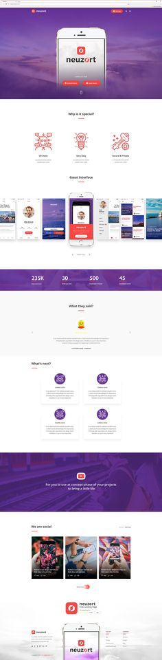 Free Neuzort Landing Page PSD by T4U Digital Agency