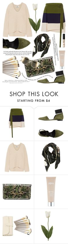 """""""22.09.2016"""" by liorosa ❤ liked on Polyvore featuring Peter Som, megumi ochi, Acne Studios, Valentino, Gucci, Zelens, H&M and Le Specs"""