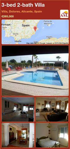 3-bed 2-bath Villa in Villa, Dolores, Alicante, Spain ►€265,000 #PropertyForSaleInSpain