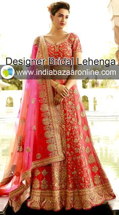 Buy designer bridal lehenga online for the wedding day at indiabazaaronline. Get personal stitching and customization facility.   #bridallehenga #weddinglehenga #designerLehenga #designerbridallehenga #lehengacholi #designerweddinglehenga #readylehenga #musthave Designer Bridal Lehenga, Bridal Lehenga Choli, Lehenga Choli Online, Indian Sarees, Indian Wear, Sari, Traditional, How To Wear, Color