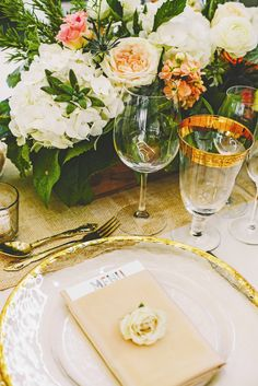 Gold Rimmed Place Settings