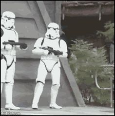 dancing disney star wars omg disneyland GIF