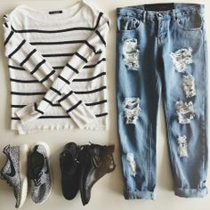 Living Doll Striped Knit, One Teaspoon Boyfriend Jeans, Tony Bianco Cut Out Boots, Nike Roshe Runs