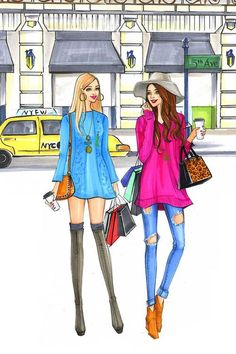 Fashion illustration for Sydewalk blogger platform by Houston fashion illustrator Rongrong DeVoe, more fashion sketches at www.rongrongdevoe.com