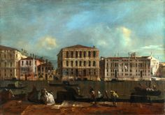 Francesco Guardi – National Gallery (London) NG4457. Venice: The Grand Canal with Palazzo Pesaro (c. 1755-1760)