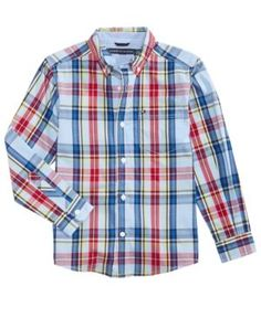 Tommy Hilfiger Andy Plaid Cotton Shirt, Toddler Boys (2T-5T) - White 2