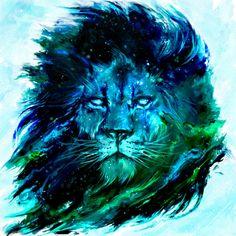 Cosmic lion Canvas Print by Shimhaq98